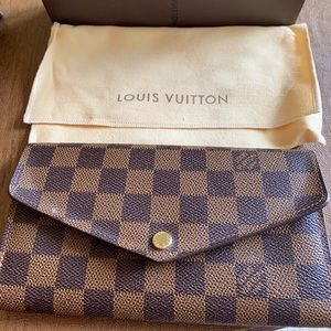 Brown checked Louis Vuitton wallet